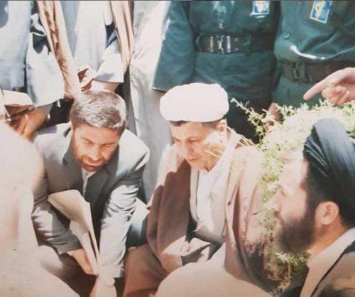تصویر الیاس حضرتی و آیت الله هاشمی رفسنجانی