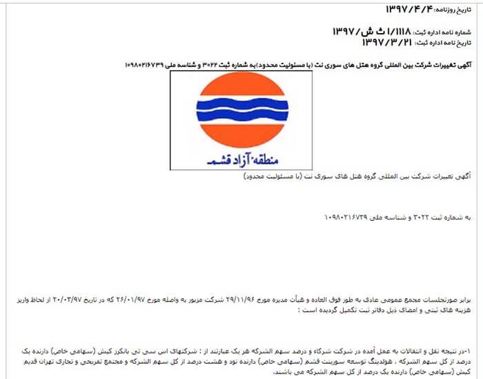 مدیر عامل مجتمع تفریحی و تجاری تهران قدیم کیش
