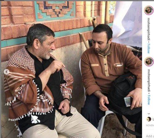 محسن پیرهادی در موکب داری در عراق